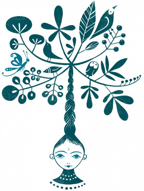 Girl with tree
